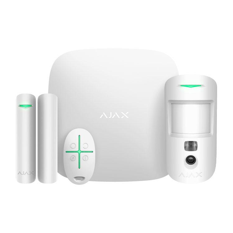 Ajax StarterKit Cam white (HubKit2 white) Комплект сигнализации с фотоверификацией тревог