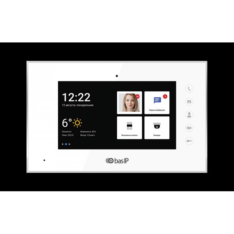 BAS-IP AQ-07LA WHITE Монитор IP-видеодомофона цветной