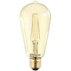 IN HOME LED-ST64-deco Лампа 7Вт Е27 3000К 630Лм золотистая
