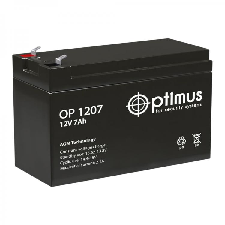 Optimus OP 1207 Аккумулятор