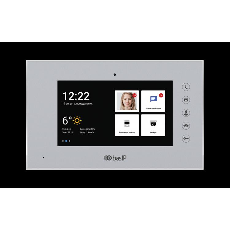 BAS-IP AQ-07LA SILVER Монитор IP-видеодомофона цветной