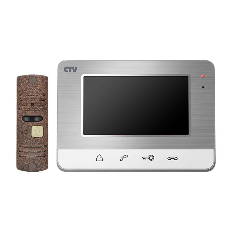 CTV-DP401 (Серебро) Комплект видеодомофона