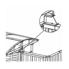 PERCo-RF01 0-09 Кронштейн для стыковки турникета с крышей