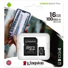 KINGSTON SDCS2/16GB Карта памяти microSDHC