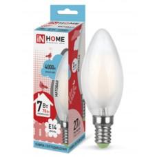 IN HOME LED-СВЕЧА-deco лампа 7Вт Е14 4000К 630Лм матовая