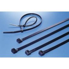 Hyperline GT-250IBUVC Стяжка нейлоновая неоткрывающаяся, безгалогенная (halogen free), 250x3.6 мм, полиамид 6.6, outdoor, устойчивость к UV, -40°C - +85°C, черная (100 шт)