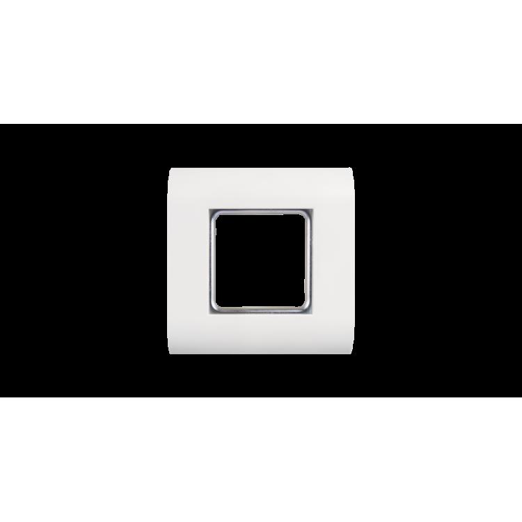 NIKOMAX NMC-PL1PM-WT Настенная лицевая панель под 1 вставку типа Mosaic 45х45мм, с подрамником