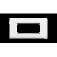 NIKOMAX NMC-PL2PM-WT Настенная лицевая панель под 2 вставки типа Mosaic 45х45мм, с подрамником