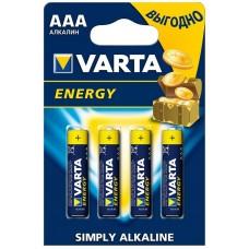 VARTA 4103 ENERGY ААА LR03 BL4 Эл-т питания  (4шт/уп)