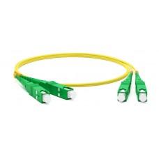 Hyperline FC-D2-9-SC/AR-SC/AR-H-2M-LSZH-YL Патч-корд волоконно-оптический