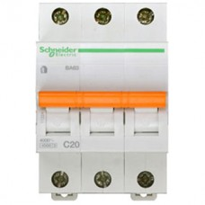 Schneider Electric Домовой 11224 Автоматический выключатель 3п С 20А ВА 63