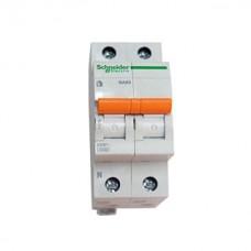 Schneider Electric Домовой 1п+N 50А С 4,5кА Выключатель автоматический