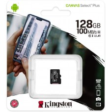 Карта памяти microSDXC UHS-I U1 KINGSTON Canvas Select Plus 128 ГБ, 100 МБ/с, Class 10, SDCS2/128GBSP