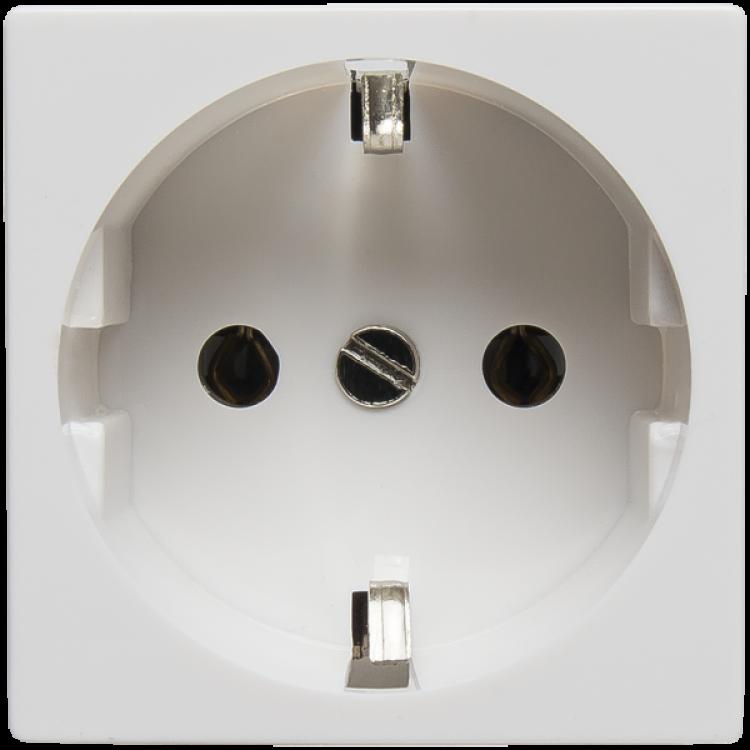 SPL 200001 Розетка электрическая 2К+З (белый)