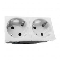 SPL 200003 Розетка двойная со шторками