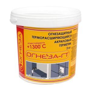 ОГНЕЗА-ГТ Огнезащитный терморасширяющийся герметик, 3 кг