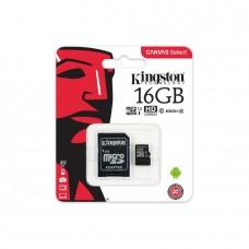KINGSTON SDCS/16GB Карта памяти microSDHC 16 ГБ