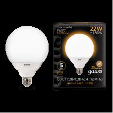 Gauss 105102122 Лампа Gauss G125 22W 1800lm 3000K E27 LED