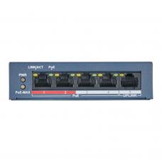 HiWatch DS-S504P(B) Сетевой неуправляемый коммутатор