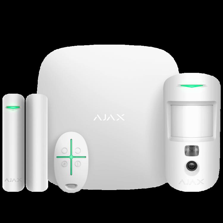 Ajax StarterKit Cam Plus (white) Комплект охранной сигнализации радиоканальный