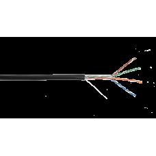 NETLAN CCA-UU004-5E-PE-BK Кабель U/UTP 4 пары, Кат.5e, 100МГц, одножильный, CCA, внешний