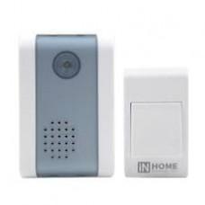 Звонок беспроводной ЗБ-2 32 мелодии 120м с цифр. кодир. с кнопкой БЕЛО-СЕРЫЙ IN HOME